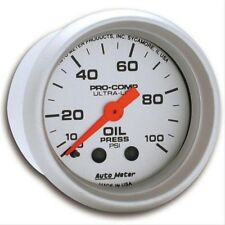 "Auto Meter 4321 2-1/16"" Ultra-Lite Mechanical Oil Pressure Gauge 0-100 psi"