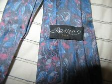 Roma silk Mens tie. Vintage tie. good cond. blue pink and pale blue $9. TIE SALE