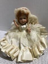 """Vintage 11 1/2"""" Plastic Bride Doll with open & shut eyes and movable joints"""