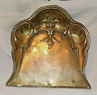 Good Looking Brass  Art Nouveau Crumb Tray & Victorian Crumb Brush c1880-1900