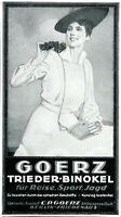 Goerz Fernglas Reklame 1919 Dame Werbung Feldstecher Berlin Friedenau Ferngläser