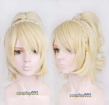 Final Fantasy XV FF15 Lunafreya Nox Fleuret Wig Light Blonde Cosplay Wig + Cap