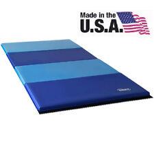 Nimble Sports Blue and Light Blue Folding Panel Tumble Gymnastics Mat