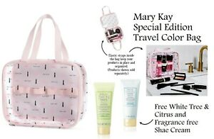 Mary Kay Special-Edition Travel  Makeup Bag for on the go with Free Shae Cream