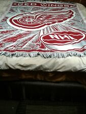 NHL Detroit Red Wings The Northwest Company red and white throw made in the USA