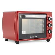 KLARSTEIN SMALL MINI ELECTRIC OVEN GRILL 30L COUNTERTOP KITCHEN ROTISSERIE RED