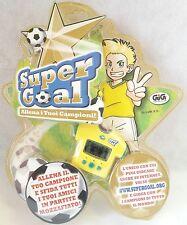 Super Goal Gig Allena i tuoi Campioni Maglia Gialla Calcio Soccer Raro Vintage