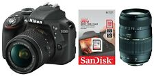 Nikon D3300 + 18-55 mm AF-P VR + Tamron 70-300 + Zubehörpaket: SanDisk 32GB SDHC