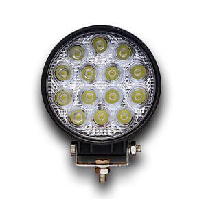 HIGH POWER ROUND 12V 24V LED WORK LAMP FLOOD LIGHT TRUCK LORRY VAN 4x4 MULTIVOLT