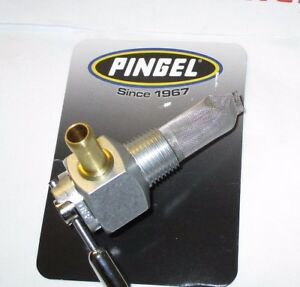 "Fits Suzuki Pingel Hi Flow Fuel Tap. Single Race Outlet. 3/8"" NPT male fitting"