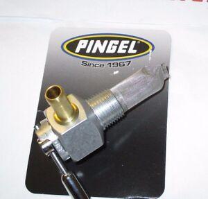 """Rickman Pingel Hi Flow Fuel Tap. Single Race Outlet. 3/8"""" NPT male fitting."""