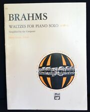 Music Teacher BRAHMS WALTZES FOR PIANO SOLO New Book Student Opus 39 Levine,Edit