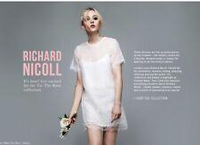 richard nicoll For Topshop Bridal Lace  Dress Sz 10 £175