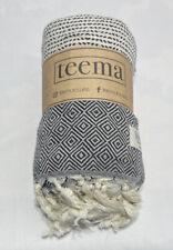 TEEMA The Black Diamanté Towel & Blanket Turkish Cotton DMN07BK