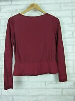 Cos knit top maroon size xs, 8 Long sleeves