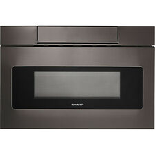 "Sharp Insight Black Stainless 24"" Microwave Drawer LCD Display SMD2470AH"