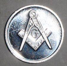 .999 Fine Pure Silver *Better than Sterling* Masonic Freemason Bullion Coin 1g
