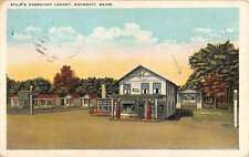 Ogunquit Maine Stairs Overnight Lodge Gas Station Antique Postcard K65855