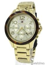 New Tommy Hilfiger Women Steel Gold Tone Multifunction Watch 40mm 1781527 $195