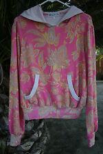 WILDFOX Paisley hoodie sweatshirt Pullover Pink Floral