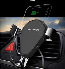 Qi Wireless Charger 360° Gravity Car Air Vent Holder Phone Mount Bracket