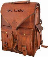 Vintage Rucksack Messenger Laptop Travel Genuine Expert Leather Goat Back pack