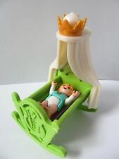 Playmobil Baby & rocking crib New palace/Victorian dollshouse furniture & figure