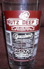 Nutz Deep II Bar and Grill, Wisc Pint Beer Glass Unique Man Cave Bar Decor NEW