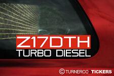 Z17DTH Turbo DieseI sticker, Decal.For 1.7 CDTi Vauxhall /Opel Corsa C, Astra G