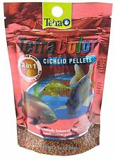 TETRA COLOR 2 IN 1 CICHLID PELLETS 1.94 OZ FISH FOOD SMALL. FREE SHIP TO THE USA