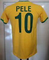BRAZIL PELE 10 RETRO FOOTBALL T-SHIRT ADULTS SIZE XXL BRAND NEW