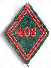 Losange tissu modèle 1945 patch 408° BS BATAILLON DES SERVICES TRAIN ORIGINAL