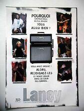 PUBLICITE-ADVERTISING :  Ampli LANEY  2001 Paul Gilbert,John 5, Tony Iommi,Godin