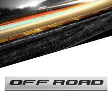 Black/Chrome Off Road Letter Sign Sport Motor Trunk Polished Badge Decal Emblem