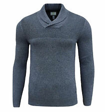 adidas Neo Men's / Boys Slim Fit Shawl Neck Jumper Top Blue Small