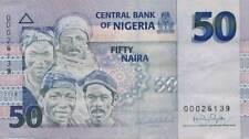 Nigeria - 2008 - 50 naira - VF - banknote - RARE