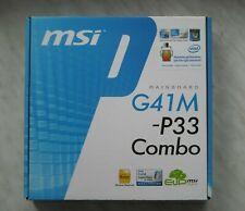 Motherboard MSI G41M-P33 Combo DDR2/DDR3 Socket 775 IDE SATA PCI-E PCI mATX LPT