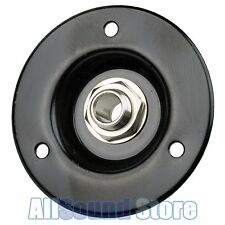 "NEW Black Recessed Amp Jack Plate, Steel 2"" Round w/ 1/4"" SWITCHCRAFT Input #11"