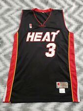 Dwayne Wade Large Mitchell & Ness Miami Heat Basketball Jersey