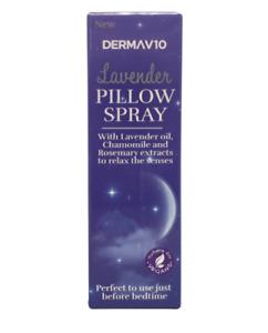 Derma V10 30ml Restful Night Lavender Oil Pillow Spray Aromatherapy Sleep Aid