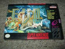 E.V.O.: The Search for Eden (Super Nintendo SNES, 1993) Complete NEAR MINT Evo