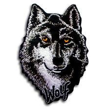 Lone Wolf Patch Iron on Navajo Harley Biker Motorcycle Heavy Metal Animal Tattoo