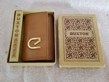 Buxton; Key Tainer Case ; Tag Brown Leather Very Nice!