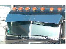 PETERBILT ULTRA CAB 2005 & UP STAINLESS 14 X 9 BOWTIE DROP VISOR P-1014