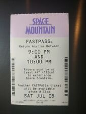 Walt Disney World - Space Mountain Paper Fastpass 2007-2010 Retired