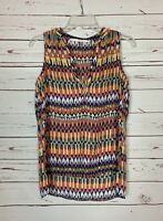 Fun 2 Fun Stitch Fix Women's S Small Navy Boho Sleeveless Spring Top Blouse Tank