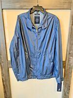 NAUTICA Weathersfield Dock Blue Men's Windbreaker Rain Jacket Size XL NWT