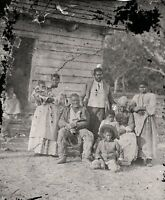 Negro family 1862, South Carolina, Civil War era, Slaves, antique photo, America