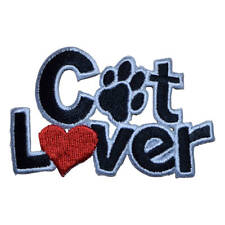 Cat Lover Applique Patch (Iron on)