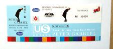 PETER GABRIEL ticket complet avec souche concert du Mercredi 24 Novembre Paris